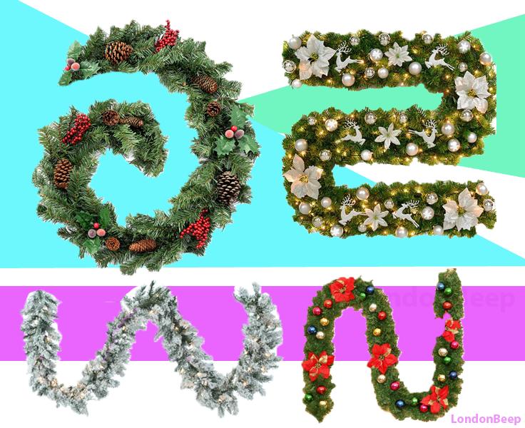 Best Christmas Garlands London, UK