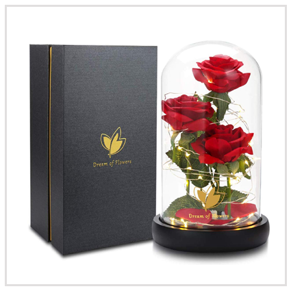 Beauty and The Beast Rose flowers - Valentine's Gifts Under £50 for lovely wife 2020 UK