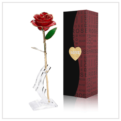 Gold Foil Rose-Valentine's day Roses for Boyfriend 2020 UK
