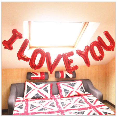 I LOVE YOU, Balloon Banner 2020 UK