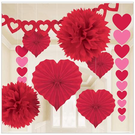 Amscan Valentine's Day Paper Decorating Kit 2020 UK