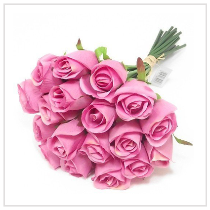 Artificial Pink Roses - Galentine's Day gift for a romantic couple 2020 UK