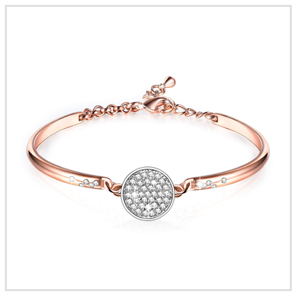Women Rose Gold Bracelet - Valentine's Day Jewellery Gift for Mother and Girls 2020 UK