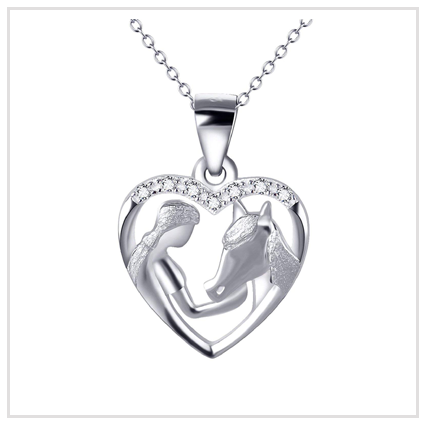 Horse Pendant Necklace - Valentine's Day Jewellery Gift for Girls 2020 UK
