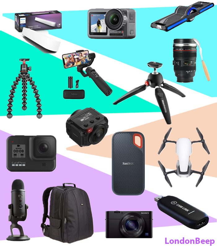 25 Best Gifts for YouTubers UK 2021 Perfect Gifts UK 2021 for YouTubers, Vloggers, Video Shooters, Video Creators, Instagram
