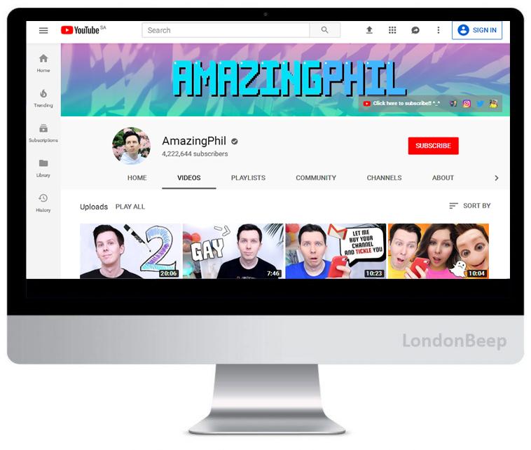 AmazingPhil Youtube Channel UK