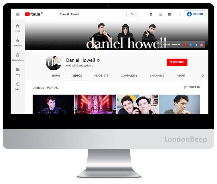 Daniel Howell Youtube Channel UK