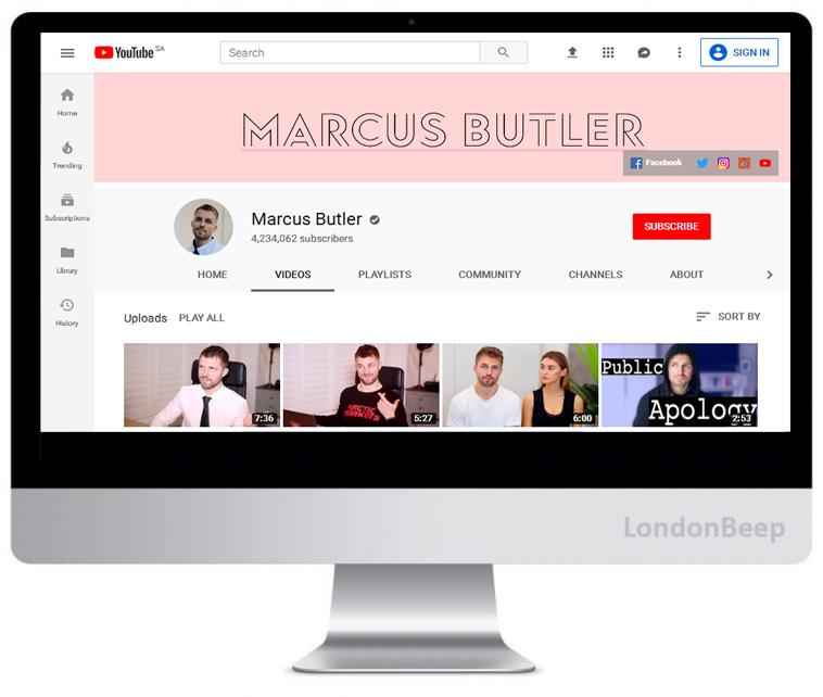 Marcus Butler Youtube Channel UK