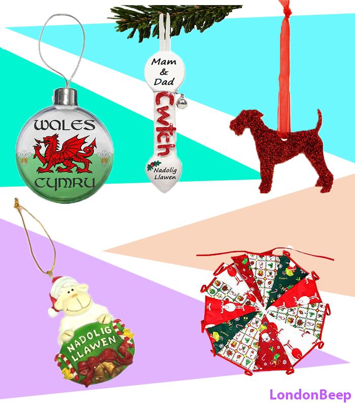Welsh Christmas Decorations 2020 UK