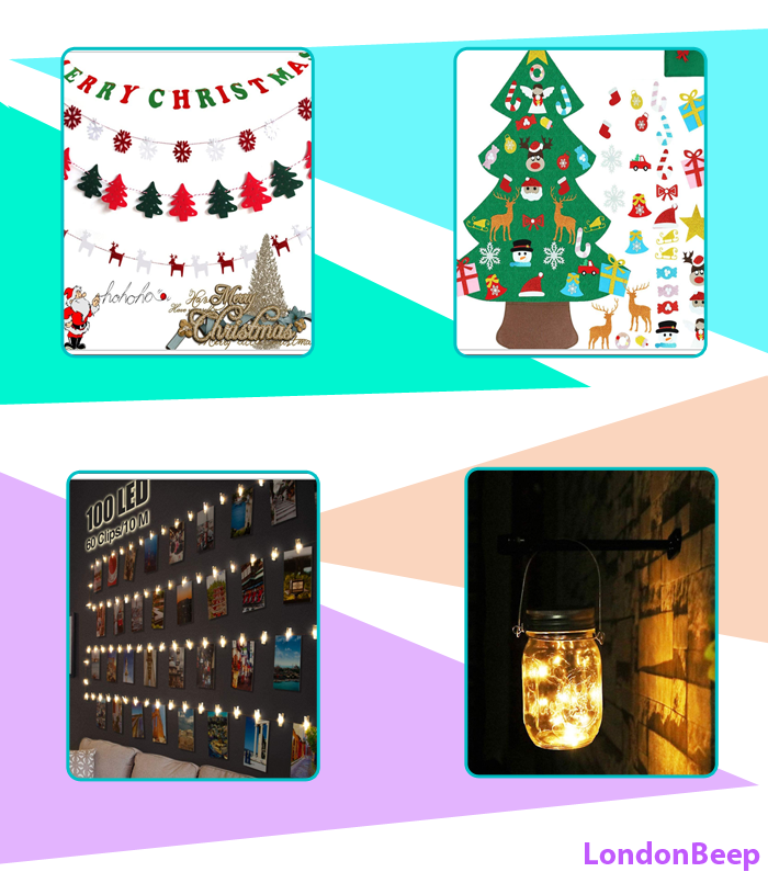Top 10 Best Wall Hanging Christmas Decor Ideas 2020 UK, London