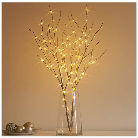 Hairui Lighted Willow branches with Fairy Lights 2020 UK