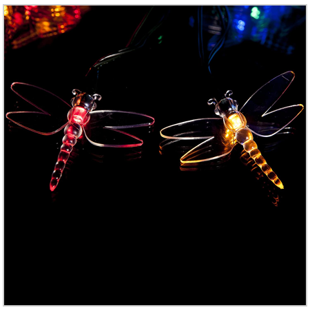 Multi-color Dragonfly Fairy Lights 2020 UK